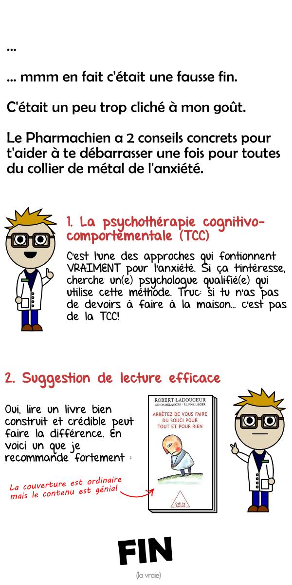 Thérapie cognitivo-comportementale (TCC) et  suggestion de lecture