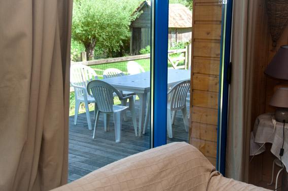 terrasse gîte les bruyères carré moyaux calvados normandie