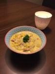Soupe au maïs et au lard