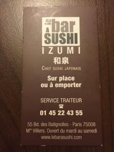 Bar à sushi Izumi