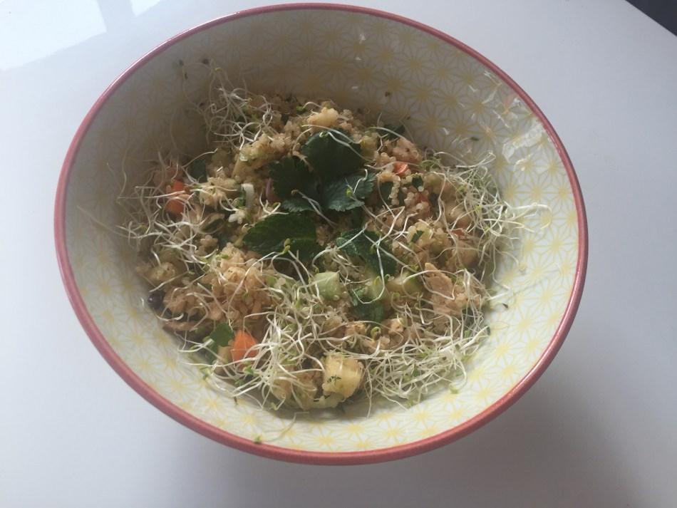 Poulet, quinoa et pomme verte
