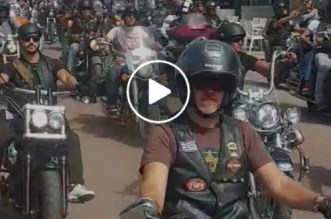 Une immense parade « Harley Davidson » à Casablanca (VIDEO)