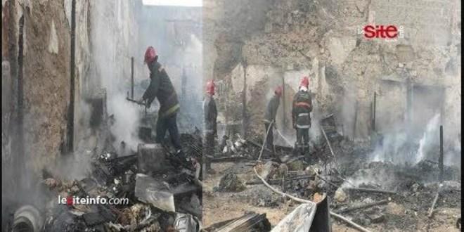 Terrible incendie à Casablanca à cause d'une bonbonne de gaz (VIDEO)