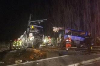 Bus scolaire percuté en France: 4 enfants décédés (VIDEO)