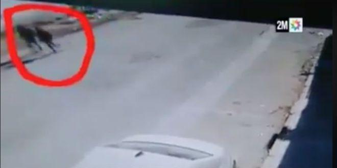 Le moment de l'effondrement du mur qui a tué à Casa (VIDEO)