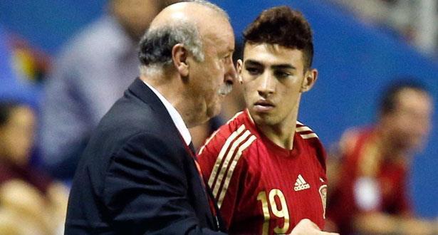 Del Bosque se sent coupable pour El Haddadi — Espagne