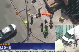 Canada: une camionnette renverse plusieurs piétons à Toronto (VIDEO)