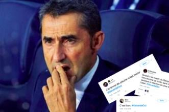 Les fans du Barça à Valverde: «dégage!»