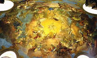 National Library ceiling fresco