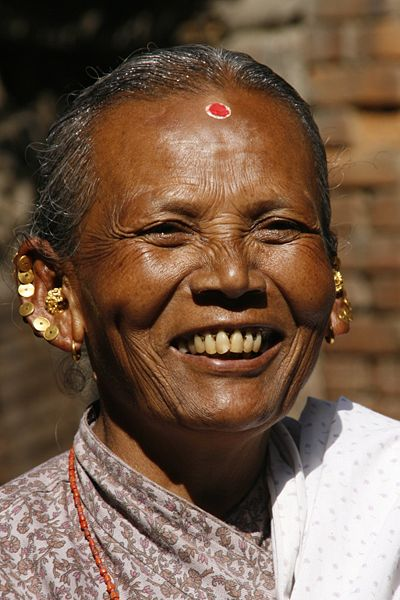400px-Nepali_Woman_Smiles