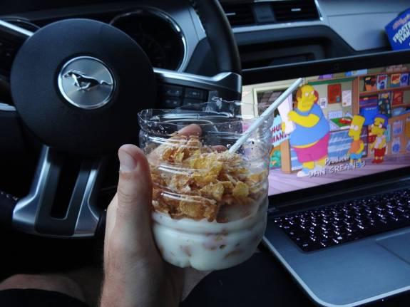 petit déjeuner en road trip