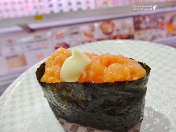 sushi saumon uobei shibuya tokyo 105 yens pas cher