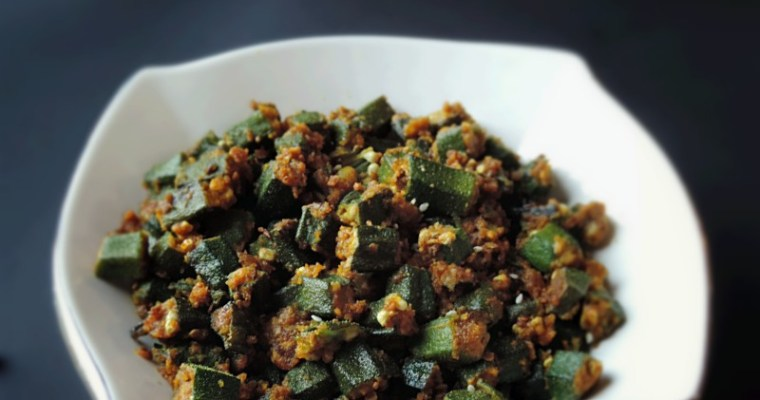 Bhindi Peanut masala ( No Onion Garlic)