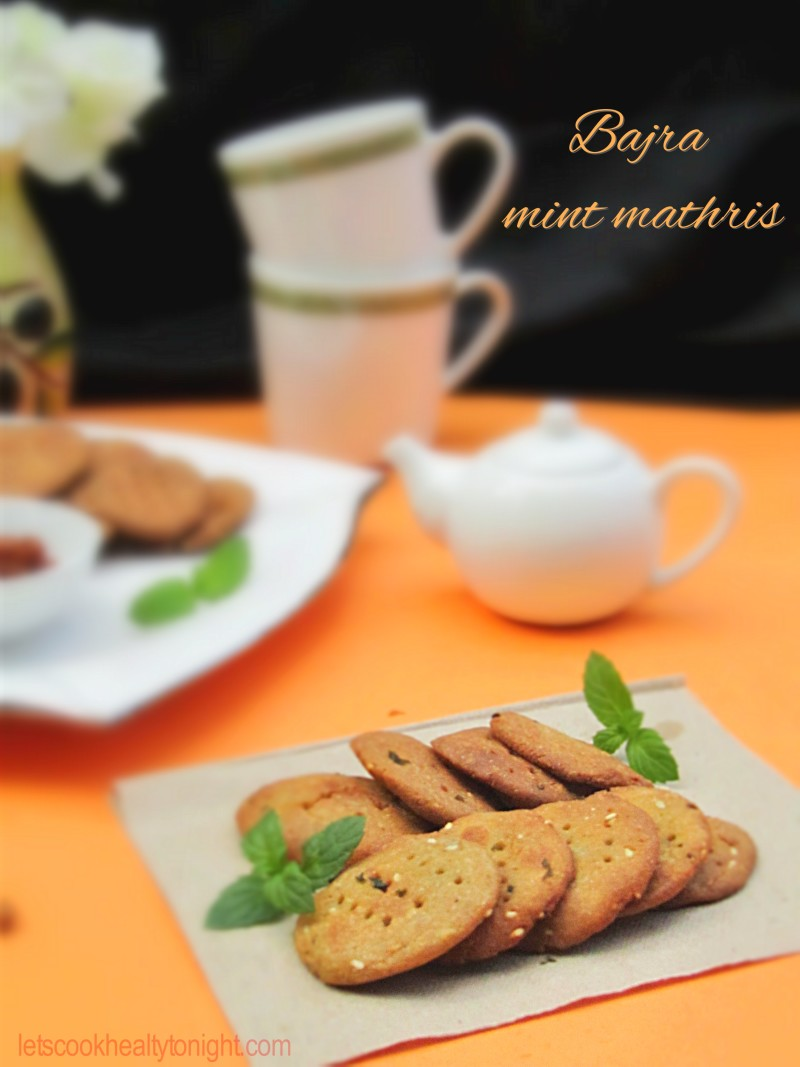 BAJRA MINT MATHRIS| Pearl millet crackers