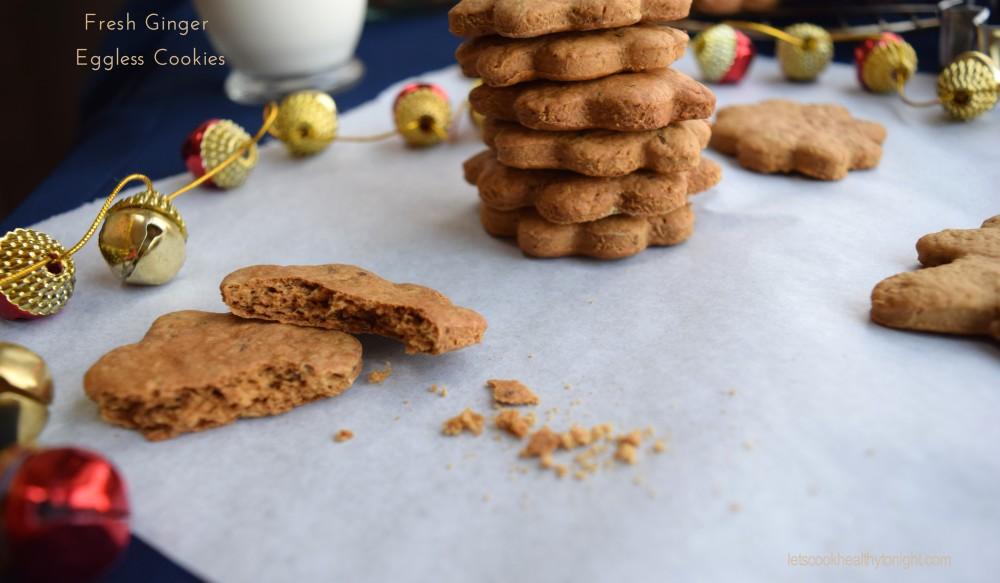 Fresh Ginger Eggless Cookies