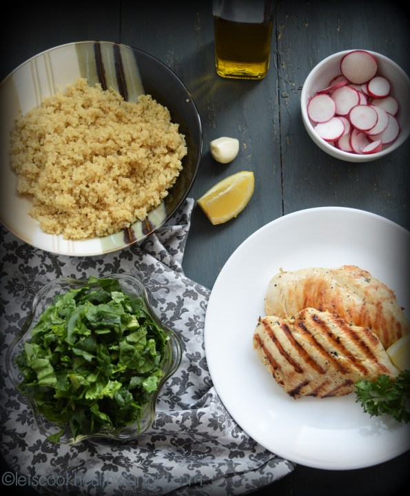 Grilled Chiken, Quinoa and Spinach