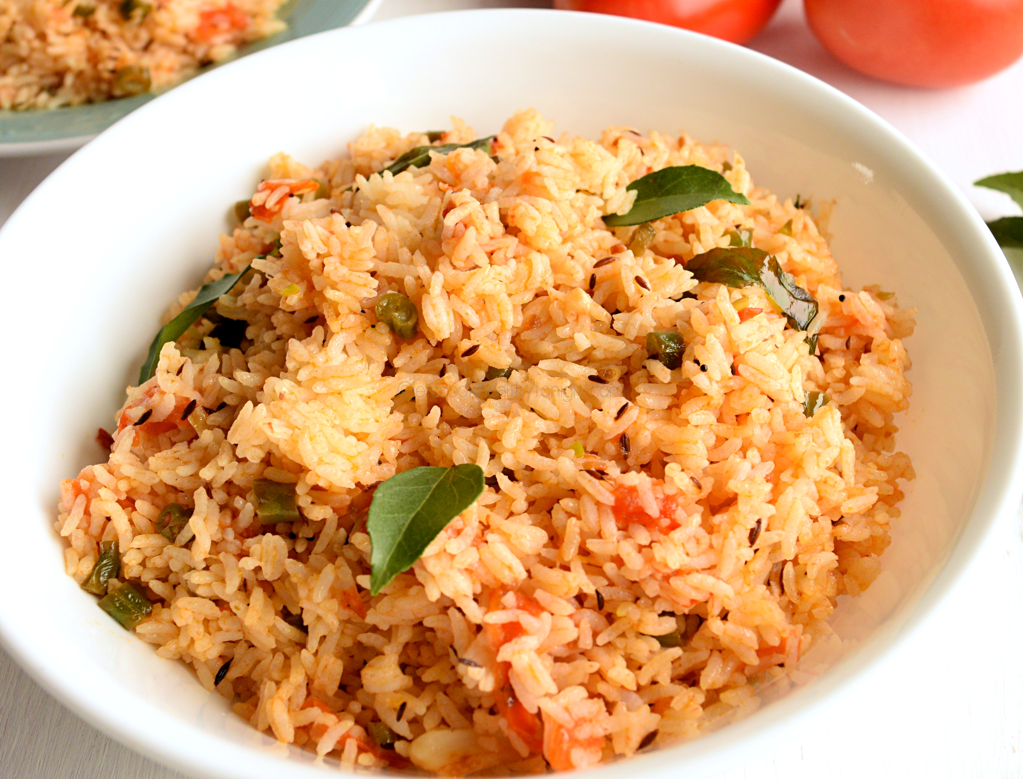Tomato rice lets cook healthy tonight although this is a very quick and easy dish but it taste awesome you can serve it with cucumber raita chutney and papads and a complete dinner will be ccuart Choice Image