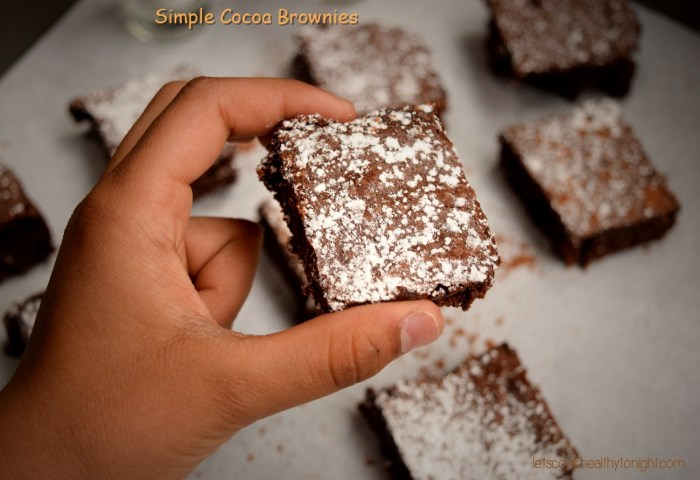 Simple Cocoa Brownies