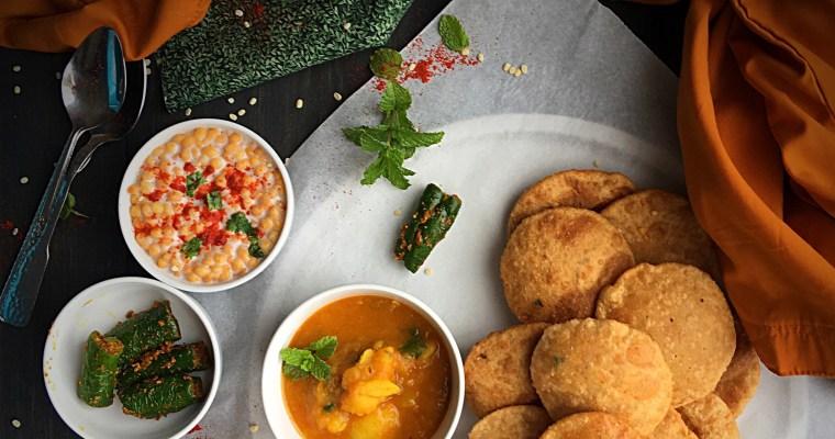 Whole Wheat Urad Dal Kachori & Aloo Tamatar Ki Sabzi- My Mother's Recipe