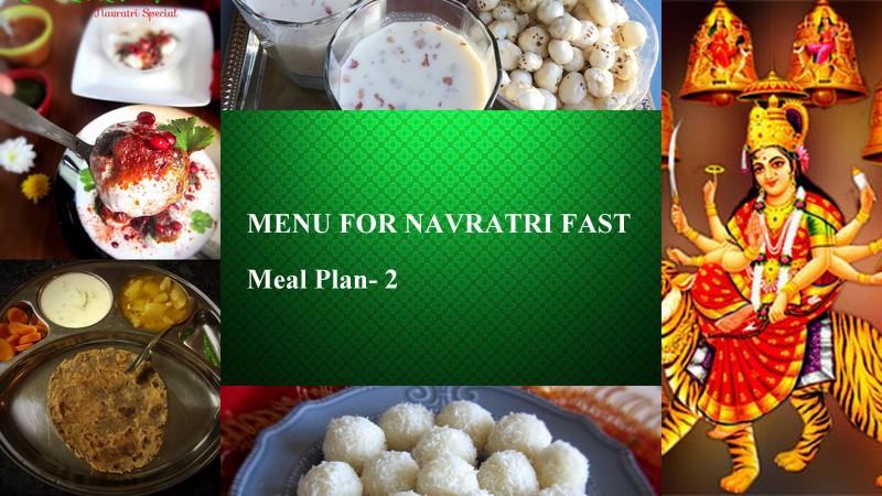 Menu for Navratri- Meal Plan 2