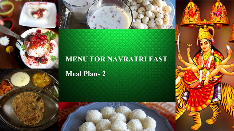 Menu for Navratri- Meal Plan 2