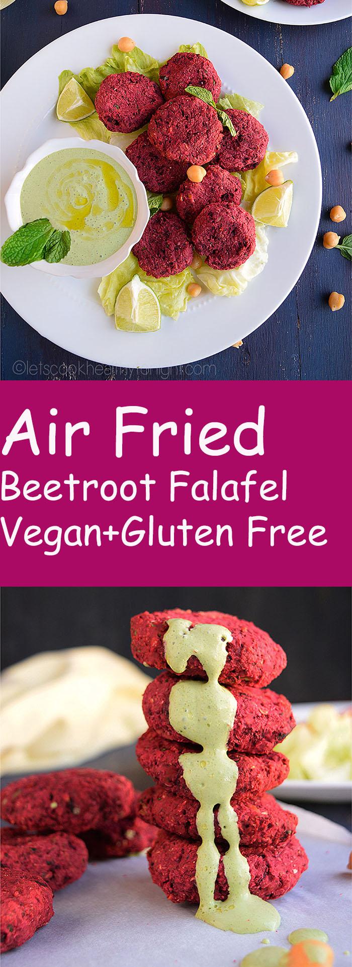 Air Fried Beetroot Falafel