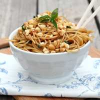 Spicy Sesame Noodles with Peanuts