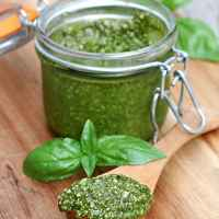 Almond Basil Pesto (Market Monday)