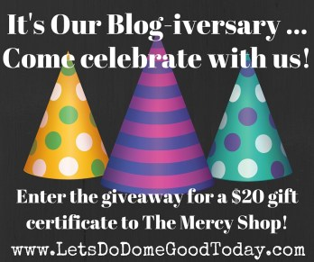 It's our BLOG-IVERSARY