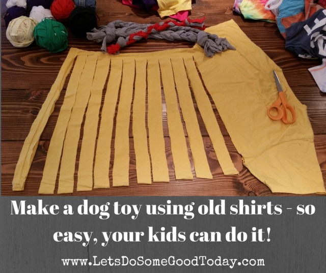 From trash to treasure- A simple DIY dog toy using old t-shirts