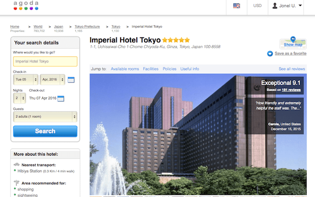Imperial Hotel of Tokyo