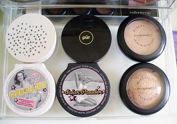 Makeup in my MUJI drawers