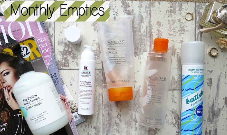 Monthly products empties November