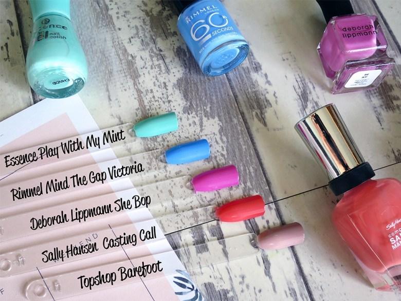 Spring Nail Polish Colours