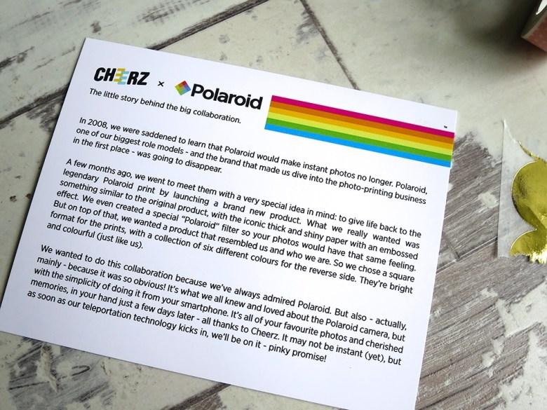 Cheerz and Polaroid