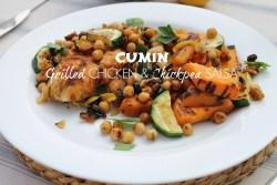 Cumin Grilled Chicken & Chickpea Salsa Recipe