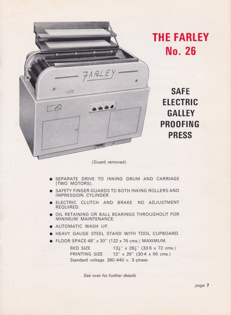 Farley Catalogue 1971-9