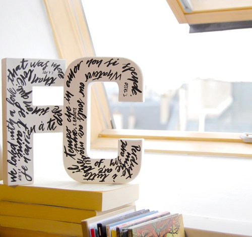 Lettres décoratives, personnalisation et calligraphie - LettersLoveLife.com