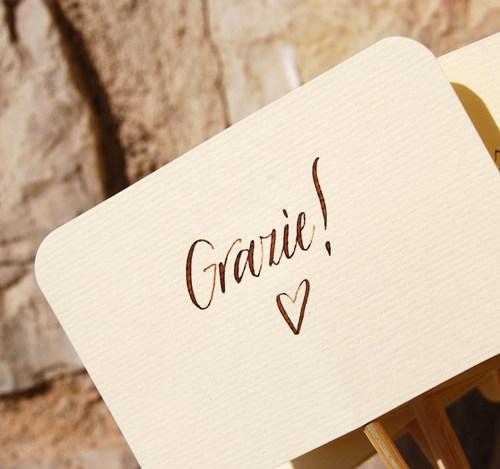 """Cartellini per bomboniere - Per dire """"Grazie!"""" agli invitati - Letters Love Life"""