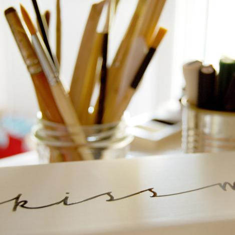 Lampade personalizzate - Calligrafia - Letters Love Life