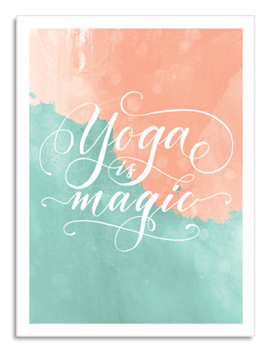 "Idee regalo ragazza appassionata di yoga: Poster murale ""Yoga Is Magic"" 