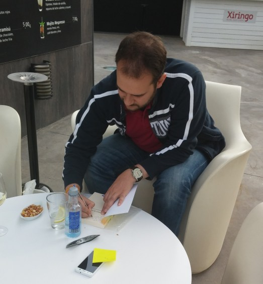 Josep signing my copy of LtJ