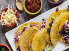 Purple Potato and Bean Tacos
