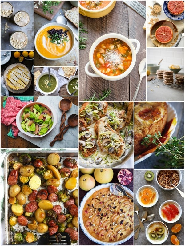 Eat Seasonal photo collage for January 2016