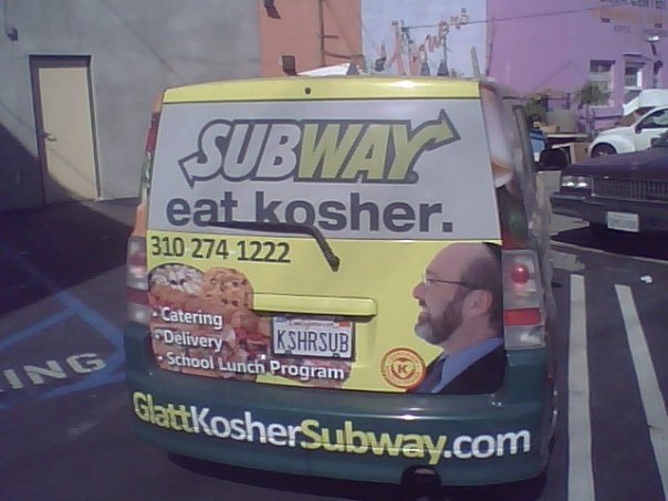 Kosher subways. Yes, they exist. I was as surprised as you.