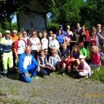 Il gruppo dei partecipanti alla camminata sul Naviglio della Martesana prima della partenza, maggio 2014