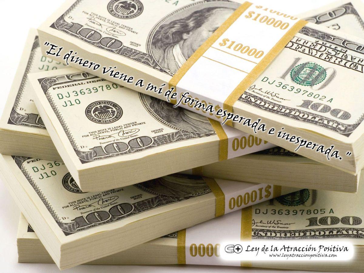 """""""El dinero viene a mí de forma esperada e inesperada."""" (Wallpaper + Decreto)"""
