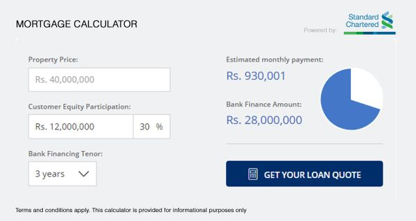 lamudi home loan calculator