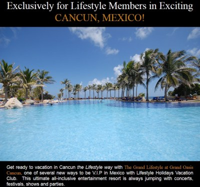 Grand Oasis Cancun - Lifestyle Holiday Vacation Club Travel