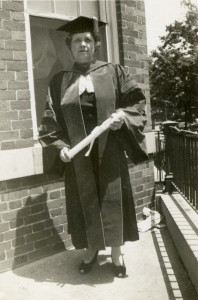 Euphemia Haynes Lofton, Educational Superstar of the District of Columbia. Here, she is pictured with her Ph.D. in Mathematics from CUA. Haynes Lofton was the first African American woman to graduate with a doctoral degree in math in the U.S.